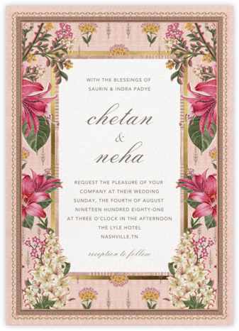 Keyuri (Invitation) - Anita Dongre - Indian Wedding Cards