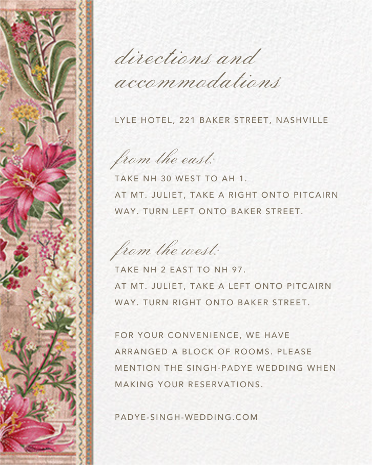 Keyuri (Invitation) - Anita Dongre - Indian - insert front