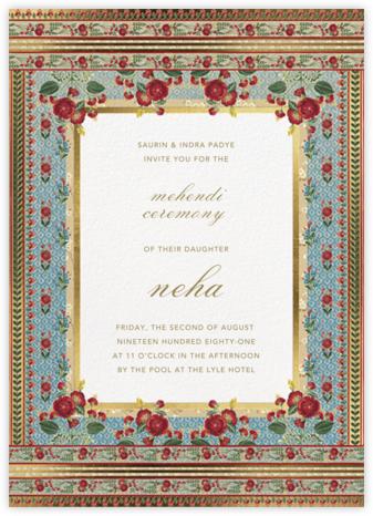 Ami (Mehendi) - Anita Dongre - Wedding Invitations