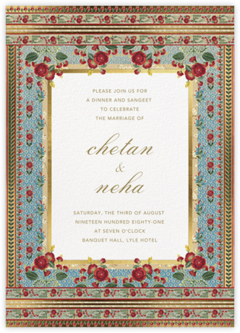 Ami (Sangeet) - Anita Dongre - Wedding Invitations