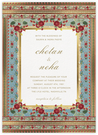Ami (Invitation) - Anita Dongre - Indian Wedding Cards