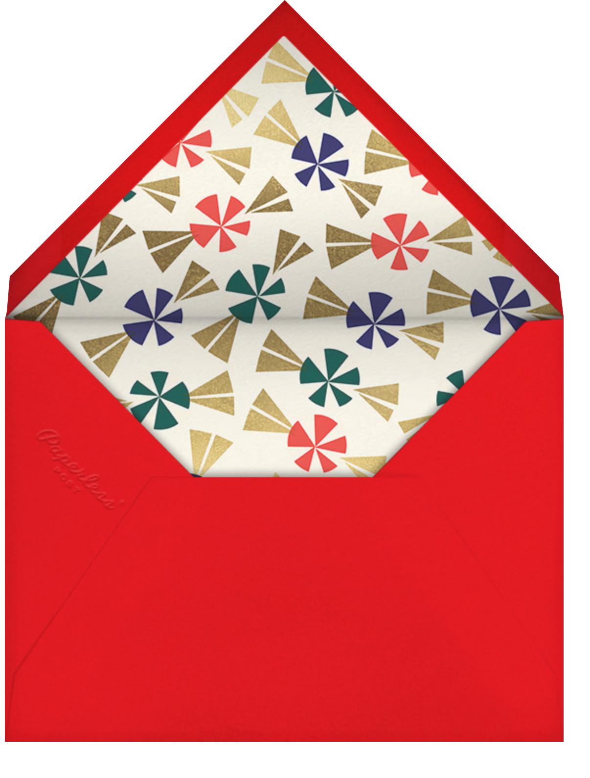 Ginger Neighbor (Invitation) - Cheree Berry - Christmas party - envelope back