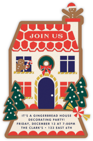 Ginger Neighbor (Invitation) - Cheree Berry - Holiday party invitations