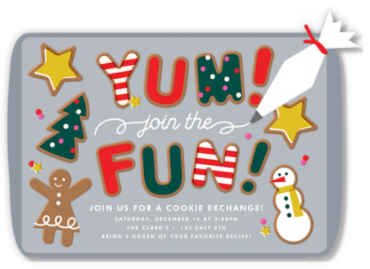 Cookie Exchange - Cheree Berry - Holiday party invitations