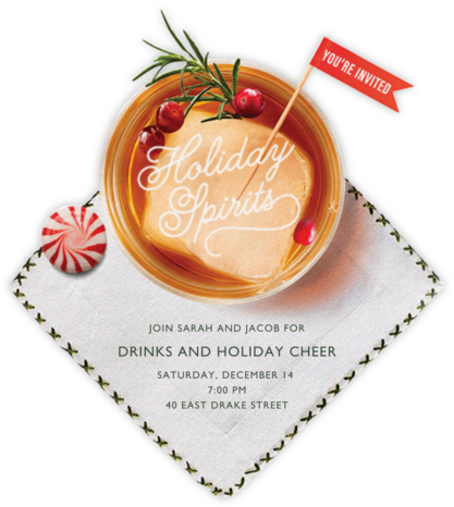 Holiday Sipping - Cheree Berry - Professional party invitations and cards