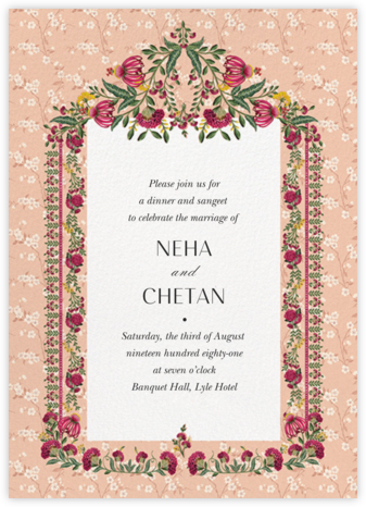 Ipsa (Sangeet) - Anita Dongre - Wedding Invitations