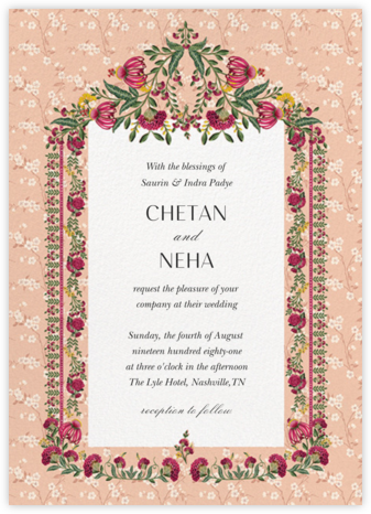 Ipsa (Invitation) - Anita Dongre - Wedding Invitations