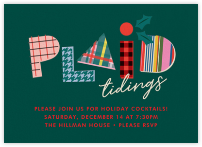 Plaid Tidings - Cheree Berry - Cheree Berry invitations and cards