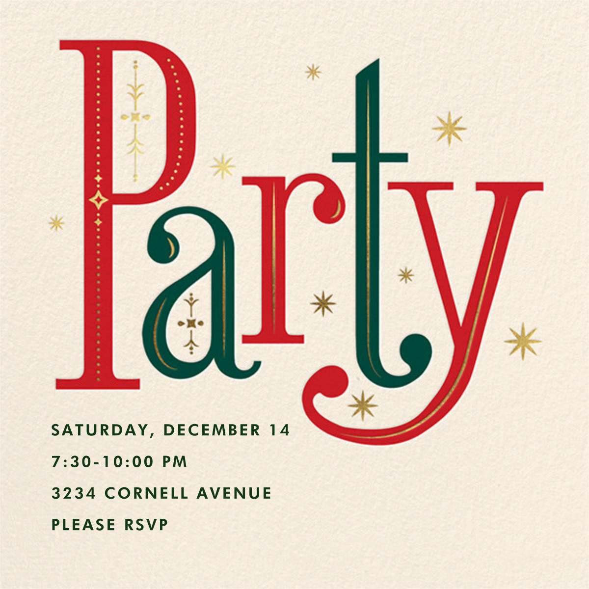 Nordic and Nice - Cheree Berry - Holiday party invitations