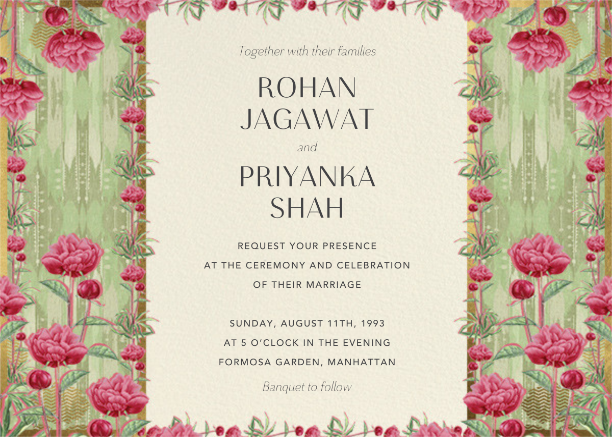 Aniyora (Invitation) - Anita Dongre - Wedding invitations
