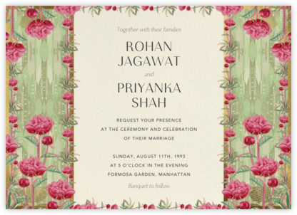 Aniyora (Invitation) - Anita Dongre - Indian Wedding Cards