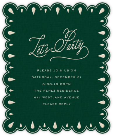 Frosted Frame - Hunter Green - Cheree Berry - Invitations for Parties and Entertaining