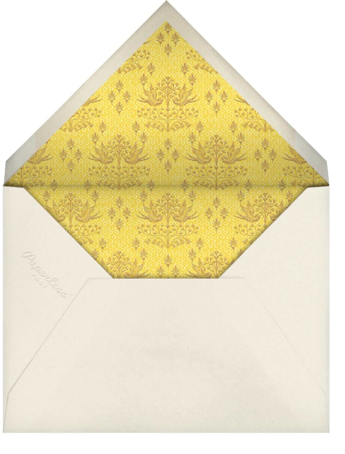 Aadya (Sangeet) - Yellow - Anita Dongre - Indian - envelope back
