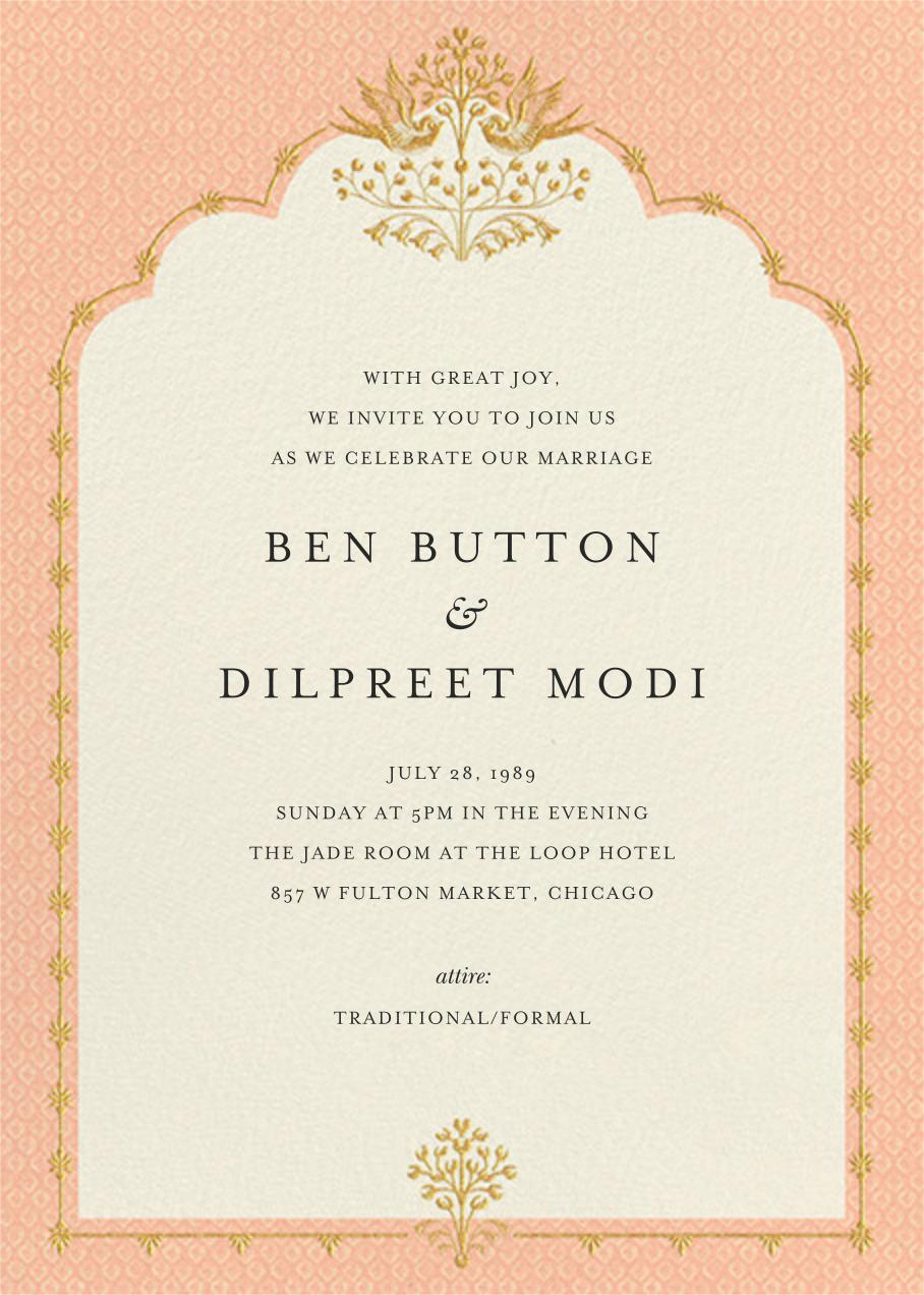 Aadya (Invitation) - Sherbet - Anita Dongre - Wedding invitations