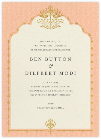 Aadya (Invitation) - Sherbet - Anita Dongre - Wedding invitations