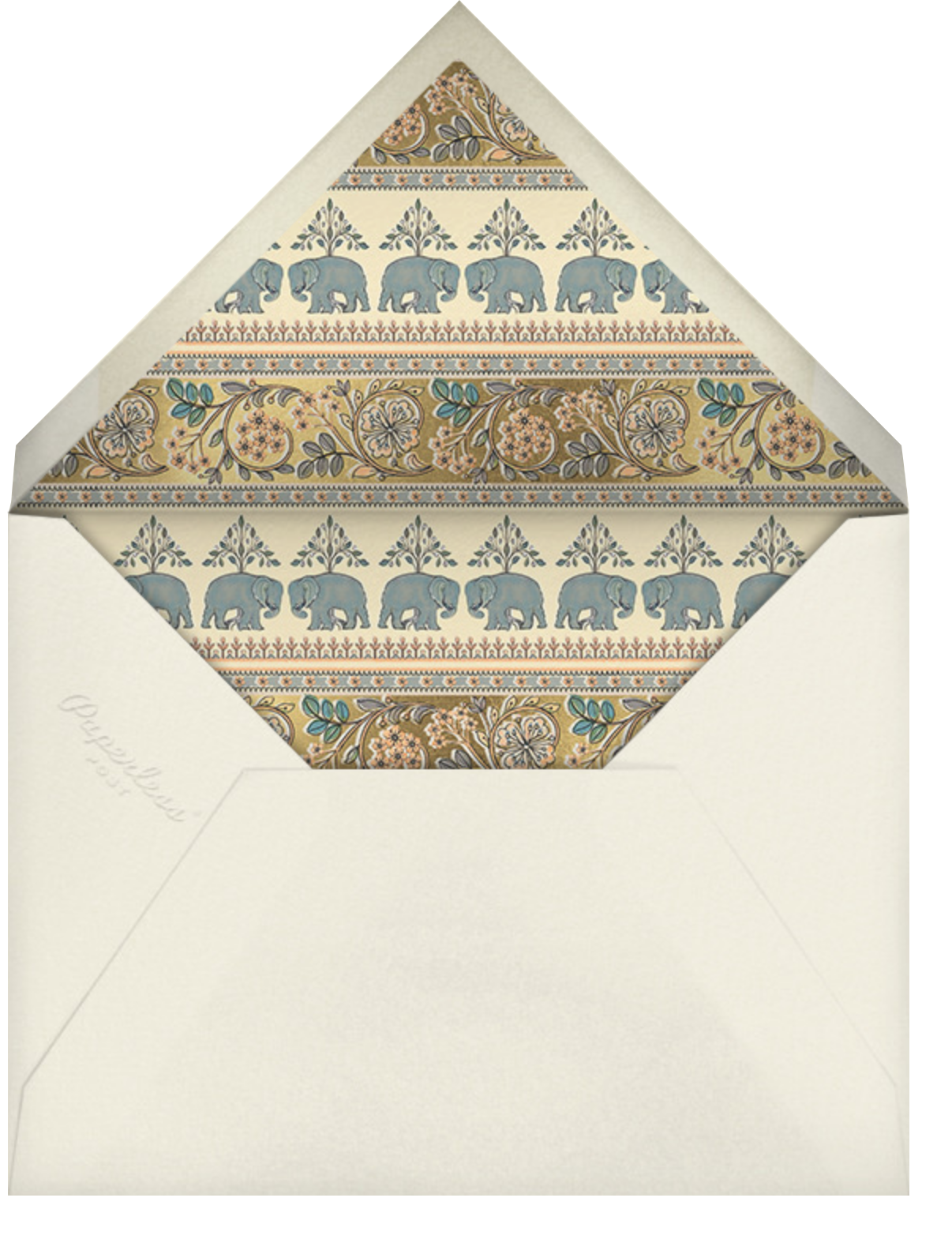 Naima (Invitation) - Gold - Anita Dongre - Indian - envelope back