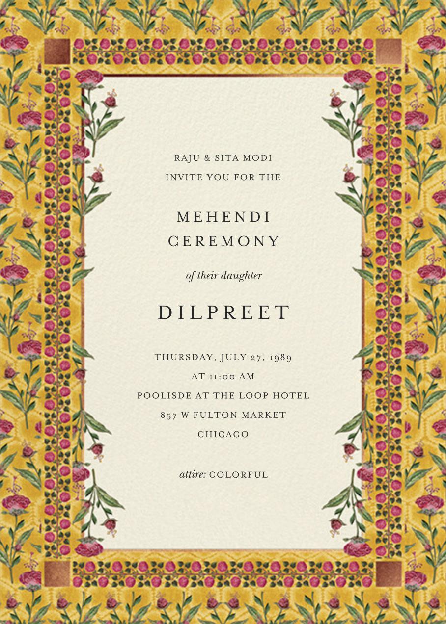 Nirvi (Mehendi) - Anita Dongre - Wedding invitations