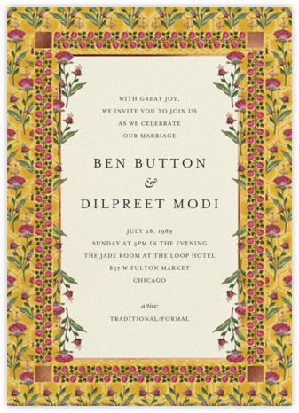 Nirvi (Invitation) - Anita Dongre - Wedding Invitations