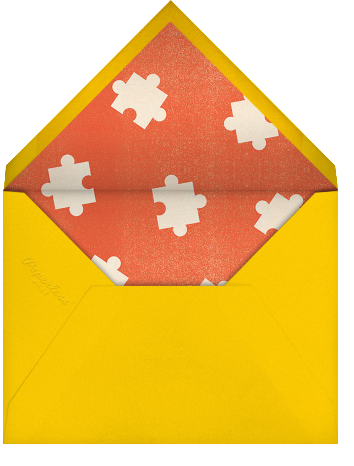 Piece of Our Heart - Paperless Post - Baby shower - envelope back
