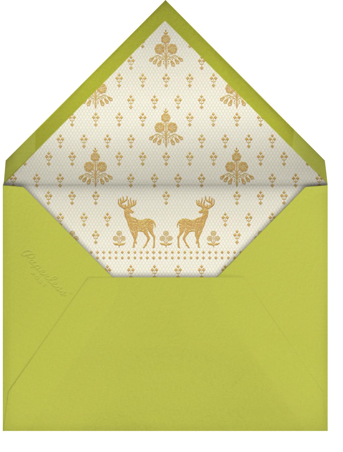 Aashna (Mehendi) - Chartreuse - Anita Dongre - Indian - envelope back