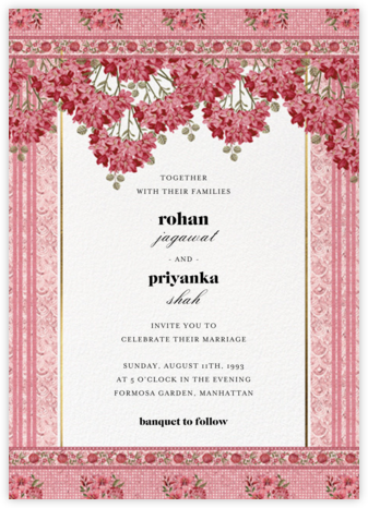 Rashia (Invitation) - Anita Dongre - Indian Wedding Cards