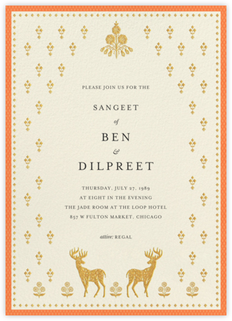 Aashna (Sangeet) - Topaz - Anita Dongre - Wedding invitations