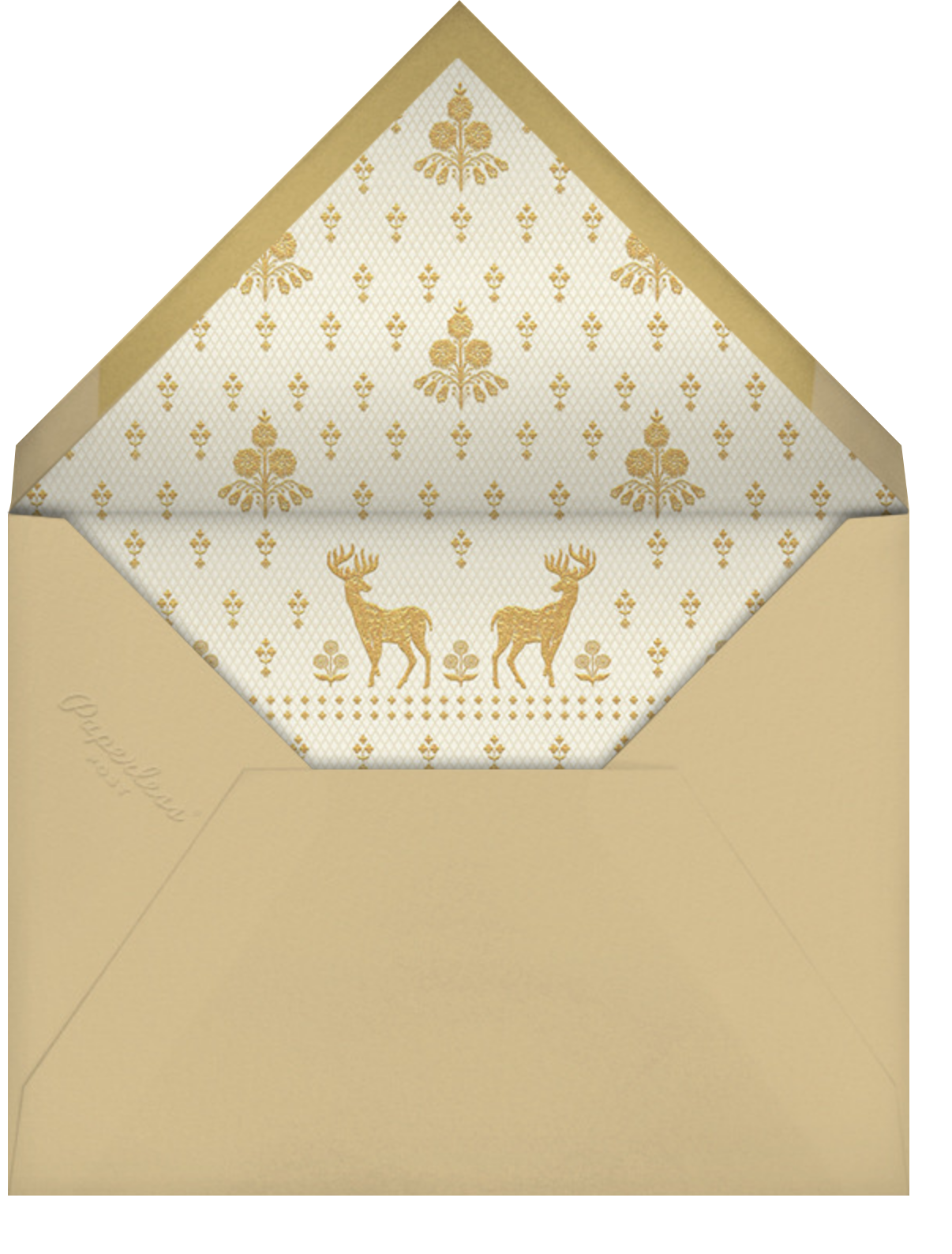 Aashna (Invitation) - Raw Silk - Anita Dongre - Indian - envelope back