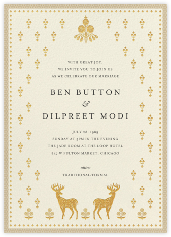 Aashna (Invitation) - Raw Silk - Anita Dongre - Indian Wedding Cards