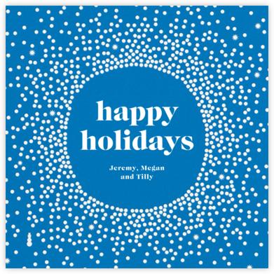 Reverse Snow Globe (Square) - Lapis - Cheree Berry - Holiday cards