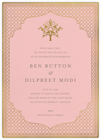Abhitha (Invitation) - Pavlova - Anita Dongre - Wedding Invitations