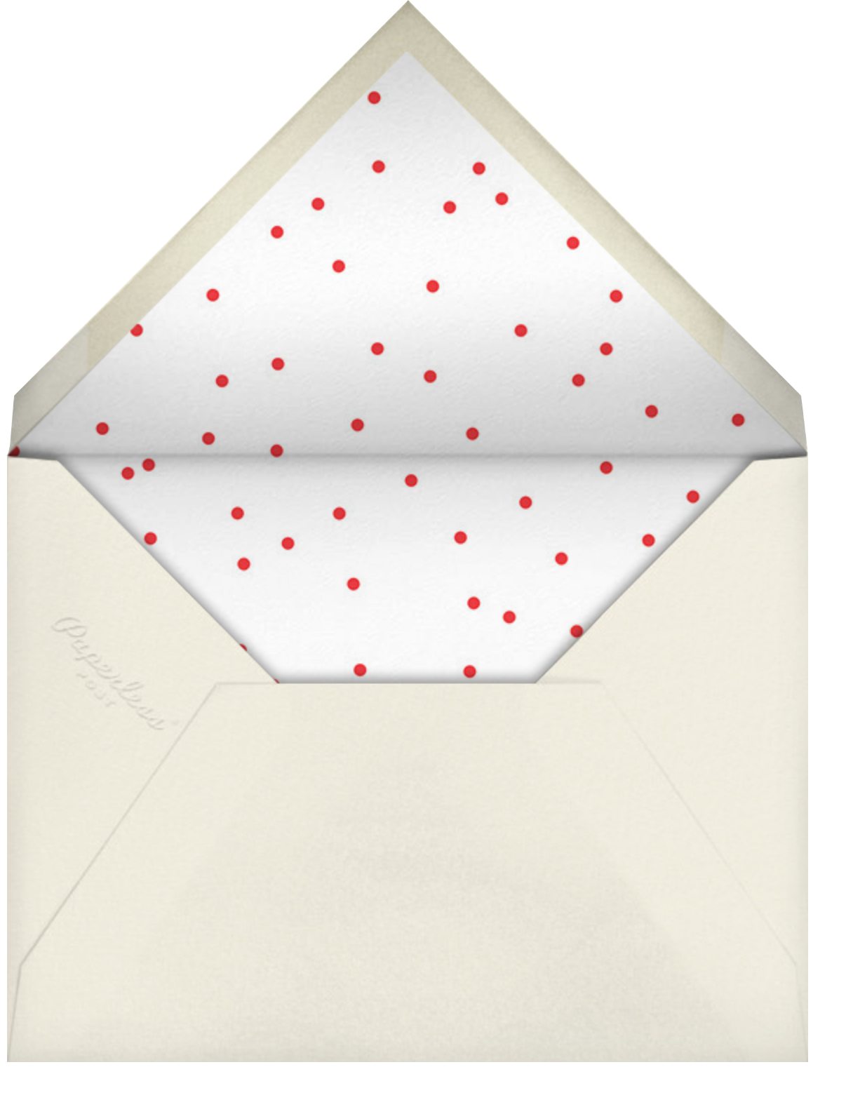 Reverse Snow Globe (Square) - Cream - Cheree Berry - Christmas party - envelope back