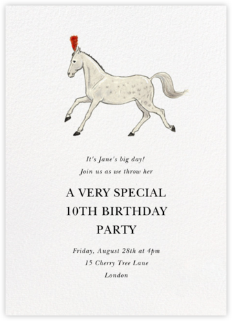 Birthday Prance - Felix Doolittle - Kids' birthday invitations