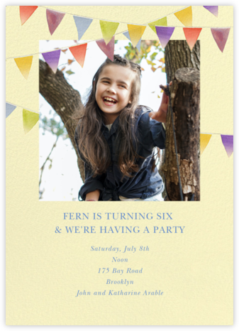 Rainbow Banner - Felix Doolittle - Birthday invitations