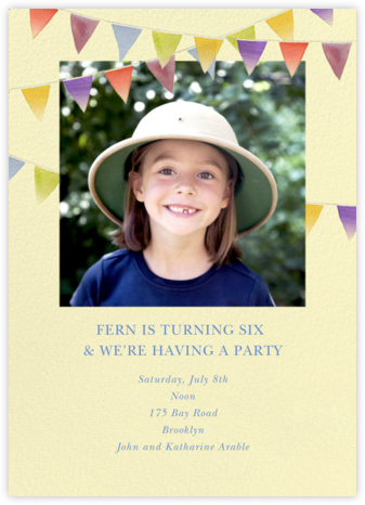 Rainbow Banner - Felix Doolittle - Kids' birthday invitations