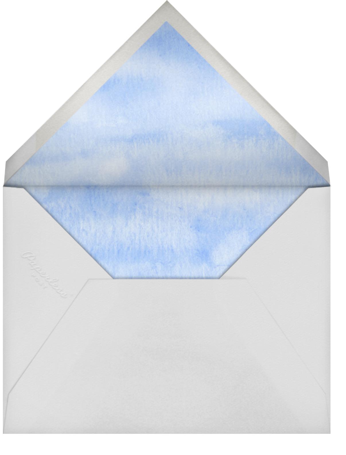 Rainbow Banner - Felix Doolittle - Adult birthday - envelope back