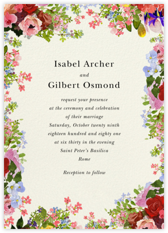 Garden Treasures (Invitation) - Felix Doolittle - Wedding Invitations