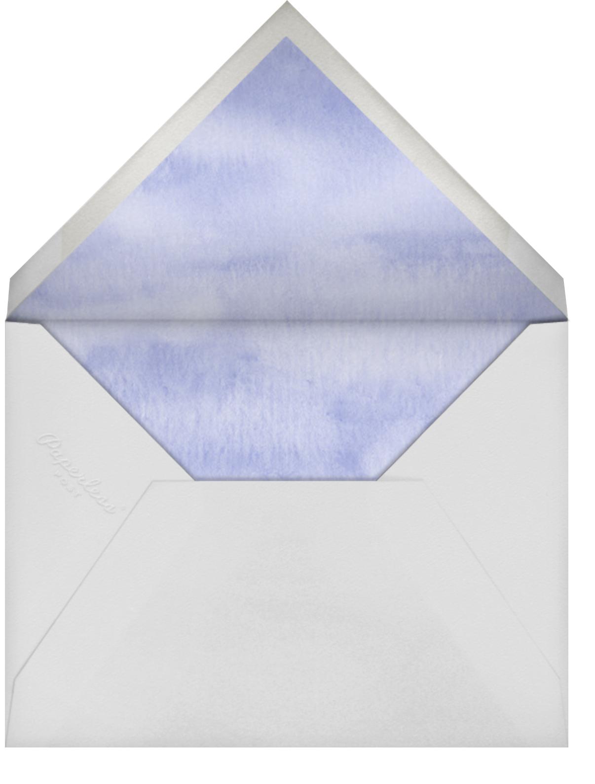 Garden Treasures - Felix Doolittle - Baby shower - envelope back