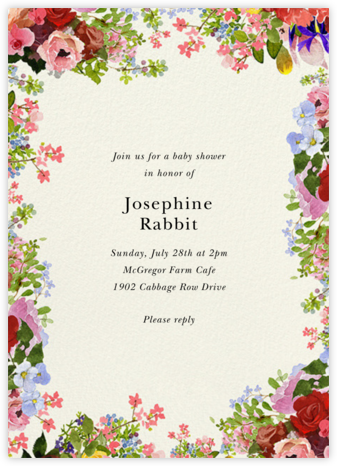 Garden Treasures - Felix Doolittle - Baby Shower Invitations