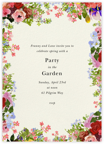 Garden Treasures - Felix Doolittle - Invitations