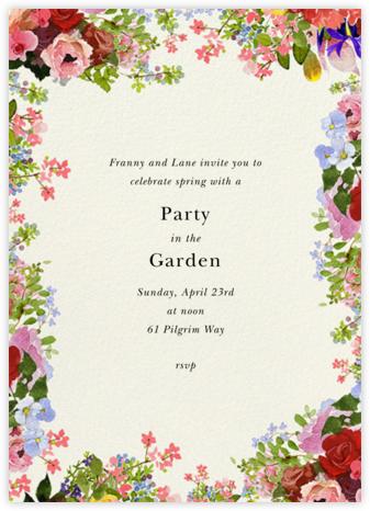 Garden Treasures - Felix Doolittle - Spring Party Invitations