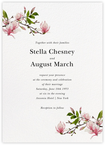 Magnolia Branches (Invitation) - Felix Doolittle - Wedding invitations