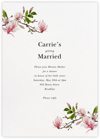 Magnolia Branches - Felix Doolittle - Bridal shower invitations
