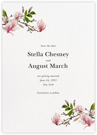 Magnolia Branches - Felix Doolittle - Save the dates