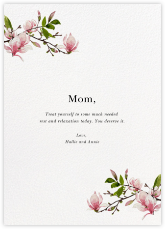 Magnolia Branches - Felix Doolittle - Mother's Day Cards
