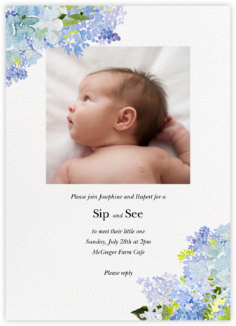 Wild Lilac - Felix Doolittle - Baby shower invitations