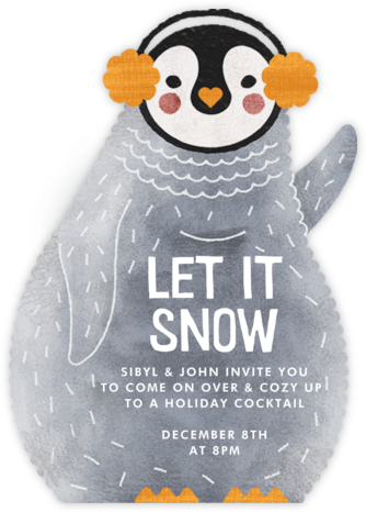Ice and Cozy - Paperless Post - Winter Party Invitations