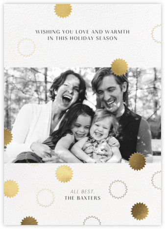 Gold ConfettI - Paperless Post - Photo Christmas cards