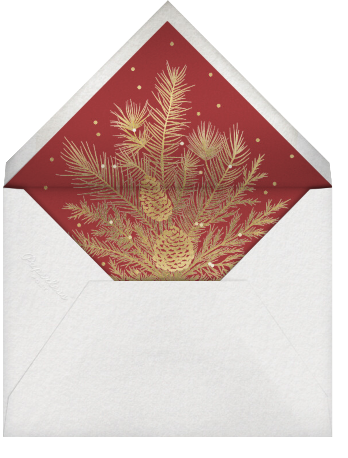 Yule-tied - Paperless Post - Holiday cards - envelope back