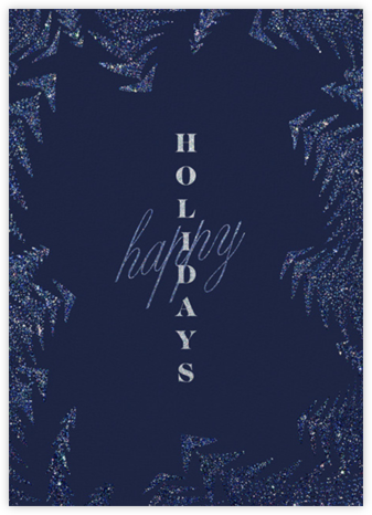 Crystal Pines (Greeting) - Dark Blue - Paperless Post - Company holiday cards