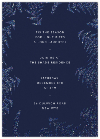 Crystal Pines (Invitation) - Dark Blue - Paperless Post - Holiday invitations
